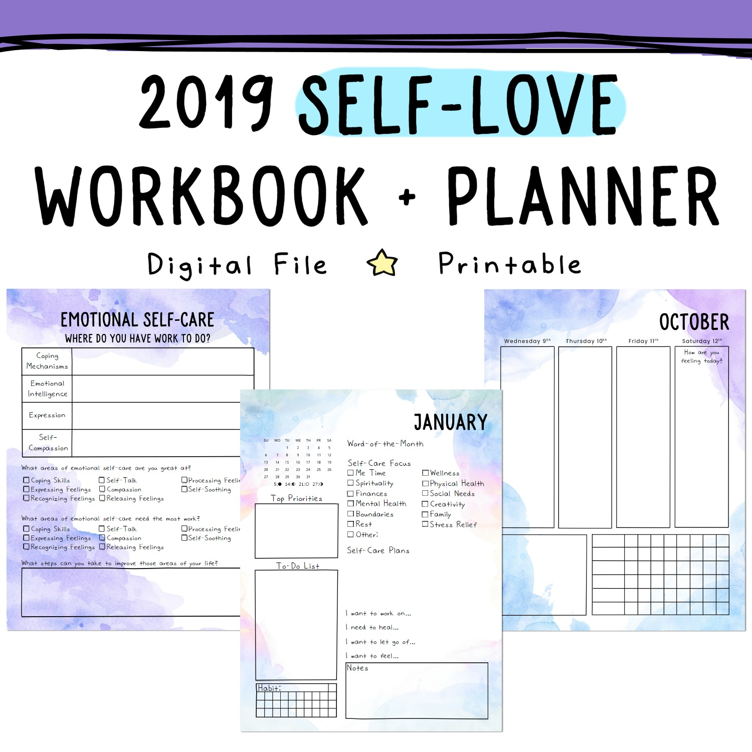 Blessing Manifesting: Law of Attraction Planner Tools
